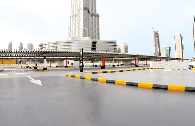 Flowcrete Middle East's award-winning Deckshield polyurethane deck coating system was specified for all levels of the multi-storey structure.