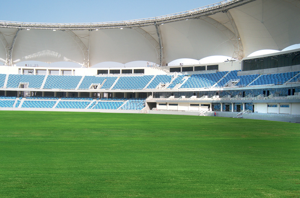 Floor Solutions For Stadia Flowcrete In The Middle East Resin