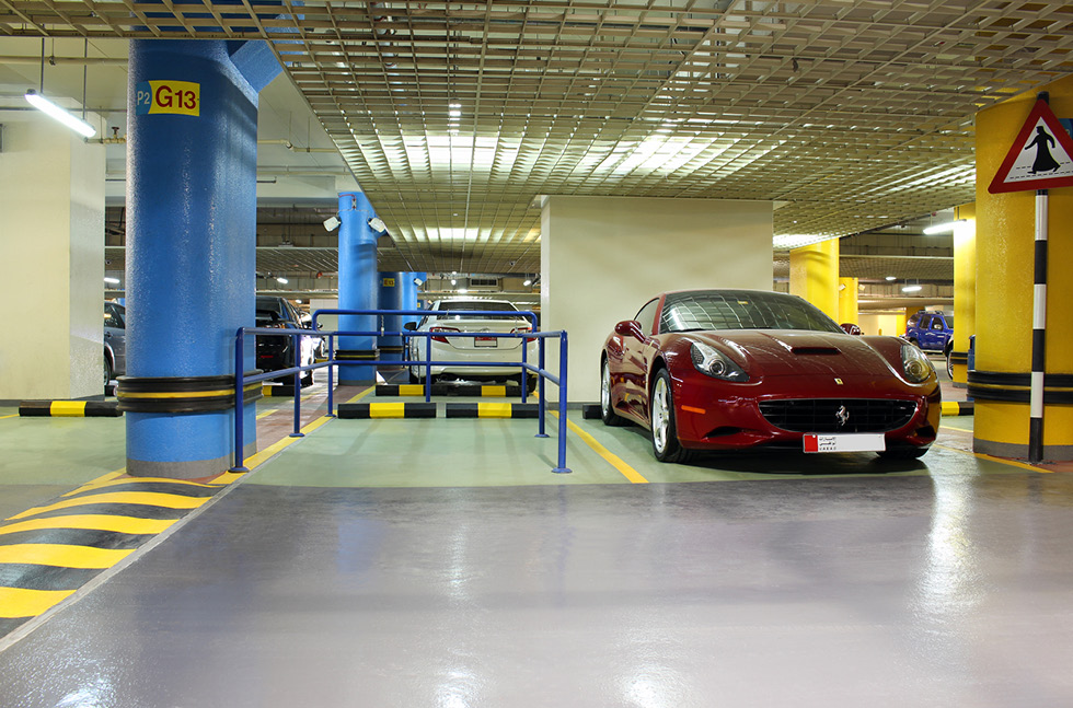 Case Study - Marina Mall Car Park Abu Dhabi | Flowcrete in the