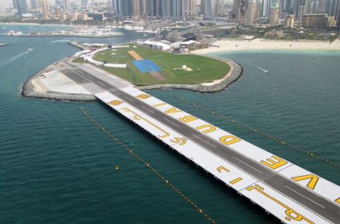 Flowcrete Lines the Runway at Skydive Dubai